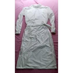 New shiny nylon wet look working coat smock M-3XL