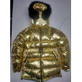 New unisex glossy nylon padded winter jacket wet look puffer down jacket DJ2021G