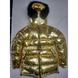New unisex glossy nylon padded winter jacket wet look puffer down jacket DJ2021G