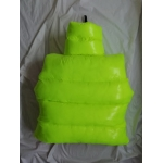 New unisex shiny nylon quilted winter waistcoat wet look puffer reversible bubble down vest overfilled