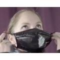 New wet look shiny nylon winter face mask down mouth mask