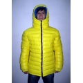 New unisex shiny nylon quilted winter jacket wet look puffy down jacket