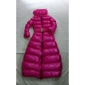 New shiny nylon wet look long winter coat quilted down coat M - 3XL
