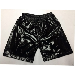 Neu Glanznylon Shorts Wetlook kurzen Hosen