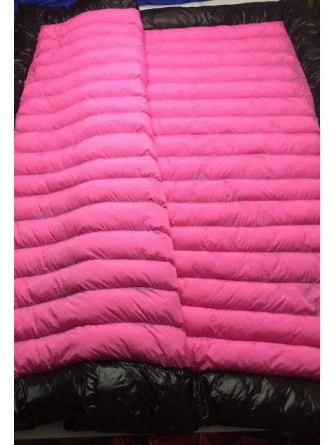 glossy shiny nylon wet look duvet down comforter quilt glanznylon winter blanket