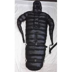 Neu Glanznylon Wet-Look Bondage Overall Fessel Schlafsack maßgeschneiderte