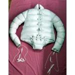 New unisex shiny nylon wet look down straightjacket bondage body diaper M - 3XL