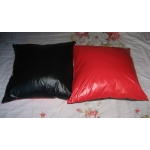 New wet look shiny nylon pillow cushion
