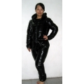 New unisex shiny nylon wet look ski overalls ski suit sport jumsuit custom made S - 5XL