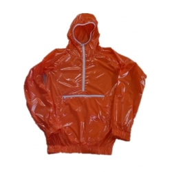 New shiny nylon wet look anorak wind jacket raincoat size M-XXL