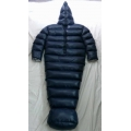 New shiny nylon wet look winter overalls sack down sleeping bag