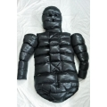 New shiny nylon wet look winter straitjacket down diaper suit vest multiple