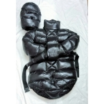 New shiny nylon wet look winter straitjacket down restraint diaper suit fetish M - 3XL