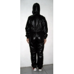 New shiny nylon wet look suit jumpsuit custom made S - 5XL
