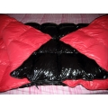 New shiny nylon wet look duvet down comforter quilt winter blanket