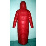 New unisex shiny nylon quilted winter coat wet look reversible down coat M - 3XL