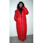 Neu unisex Wetlook Glanz Nylon Wintermantel Daunenmantel Steppmantel Wendemantel M - 3XL