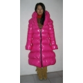 New shiny nylon wet look winter coat quilted down coat M - 3XL