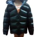New unisex shiny nylon padded winter jacket wet look puffy down jacket