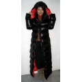 New unisex shiny nylon winter parka down parka wet look winter coat down coat M - 3XL
