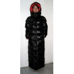 Neu unisex Glanznylon Winterparka Daunenparka Wetlook Wintermantel Daunenmantel M - 3XL