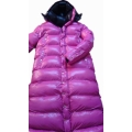 New unisex shiny nylon winter parka quilted parka wet look winter coat padded coat M - 3XL