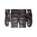 New shiny nylon wet look winter snow mittens down gloves