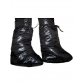Neu Glanz Nylon Wet-Look Winter Stiefel Schnee Schuhe Daunenschuhe