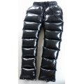 New unisex shiny nylon wet look overfilled trousers winter trousers down trousers S - 3XL