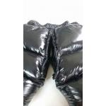 Neu unisex Glanznylon Wetlook überfüllt Hosen Winterhosen Daunenhosen S - 3XL