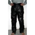 New unisex shiny nylon wet look leisure trousers casual trouser black M - 3XL