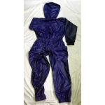 New shiny nylon wet look overalls jumpsuit with mask custom made JS2046-1S