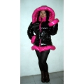 New coated shiny nylon wetlook down jacke down coat winter jacket winter coat M - 3XL