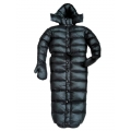 New shiny nylon wet look down sleeping bag winter overalls custom made