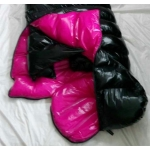 New shiny nylon wet look winter sleeping sack down sleeping bag custom made