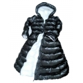 New wet look shiny nylon down dress winter dress bespoke DR2052-C