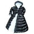 Neu Wet-Look Lack Glanznylon Daunenkleid Winterkleid maßgeschneiderte DR2052-C