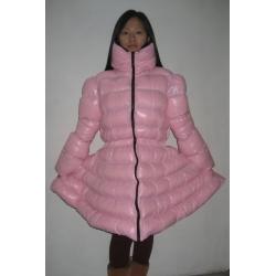 Neu Wet-Look Glanz Nylon Daunenkleid Daunenkleidung Winter Kleid Kleidung maßgeschneiderte M - 3XL