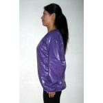 New shiny nylon wet look blouse pullover M-XXL