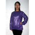 New shiny nylon wet look blouse pullover M-XXL