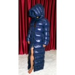 New unisex shiny nylon taffeta wet look winter coat down coat overfilled M - 3XL