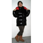 New 3 in 1 unisex shiny glossy nylon wet look down jacket parka winter waistcoat vest quilted coat
