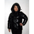 New unisex wet look shiny nylon puffy down jacket down vest