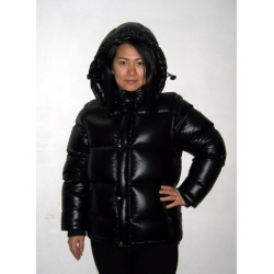 New unisex wet look shiny nylon puffy down jacket down vest