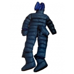 New unisex shiny nylon down overalls wet look down suit masked jumpsuit custom made