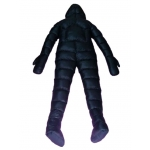 New shiny nylon winter coverall wet look masked down suit custom made