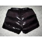 New shiny nylon wet look winter down shorts special