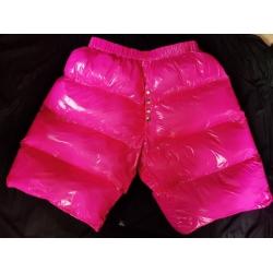 New coated shiny nylon wet look winter down pants PT2024b-2S