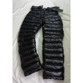 New unisex shiny nylon wet look winter pants padded trousers