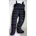 New unisex shiny nylon wet look ski bibs ski jumpsuit with boots